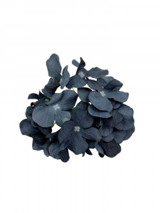 Hortensja kwiat wyrobowy 13 cm ciemno niebieska z czarnym
