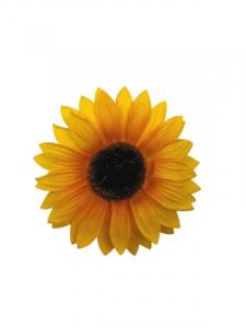 Słonecznik kwiat wyrobowy 12 cm jasno żółty