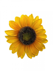 Słonecznik kwiat wyrobowy 14 cm żółty